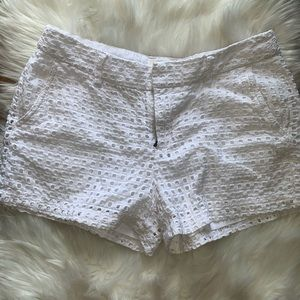 Gap city white eyelet shorts size 4
